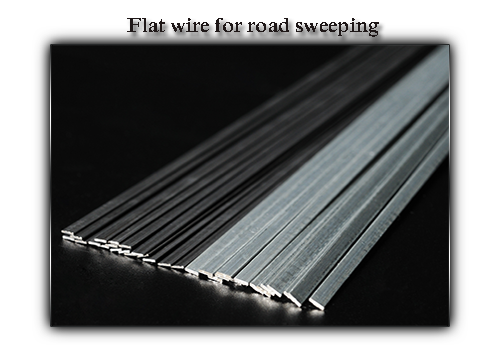 Flat wire for road sweeping