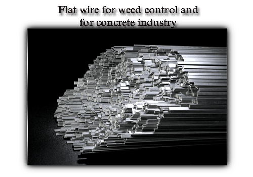 Flat wire for weed control and for concrete industry